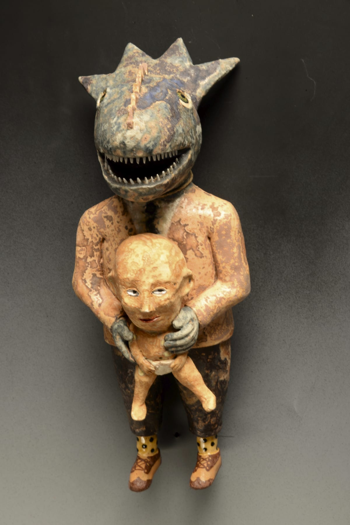Wesley Anderegg, Horney Toad with Baby, 2020