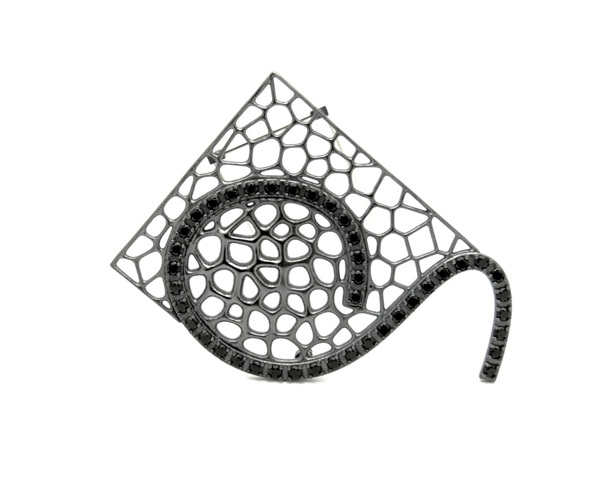 """Arthur Hash, Brooch """"Dots and Lines"""" series 2, 2016"""