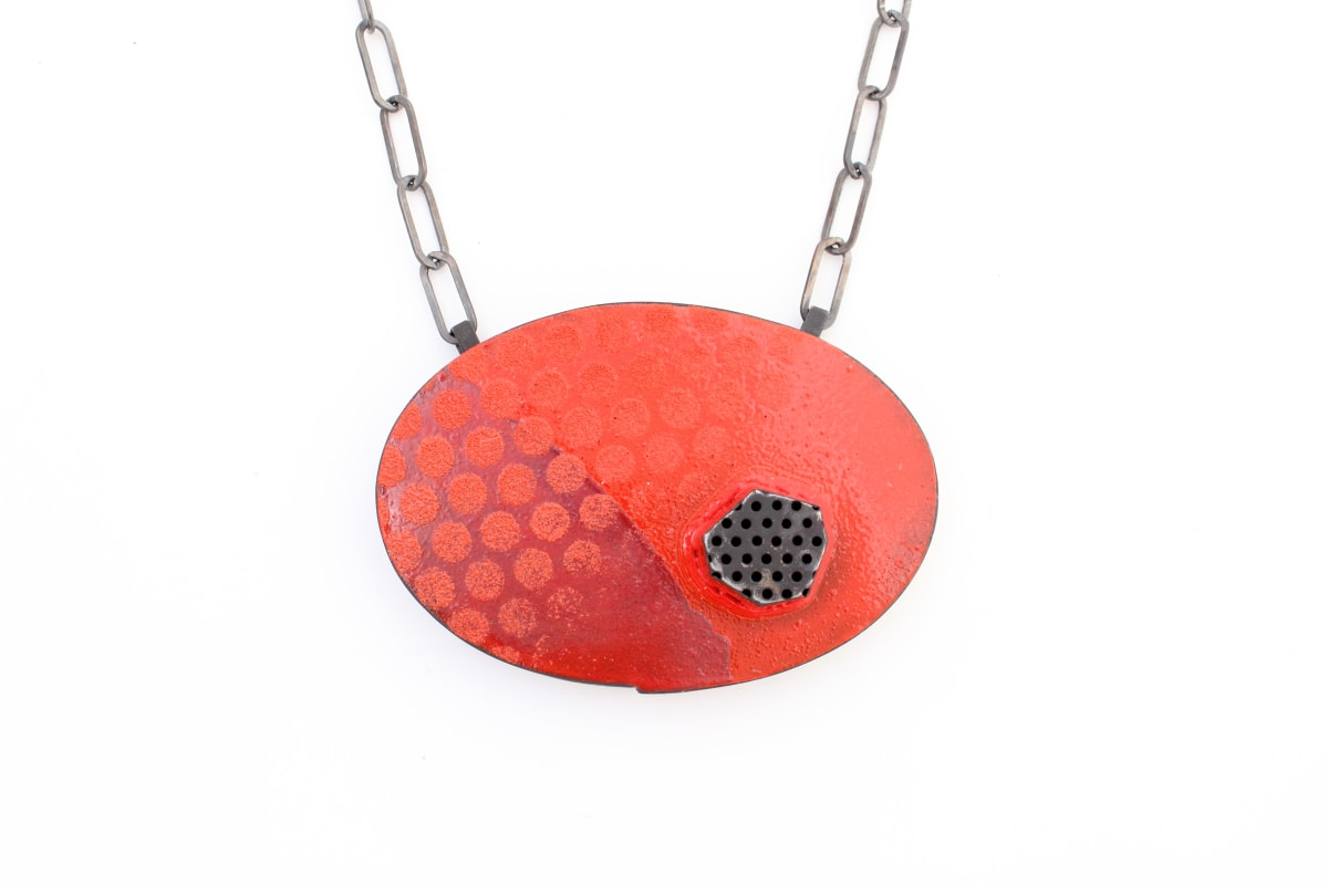 Kat Cole, Oval and Dots Pendant