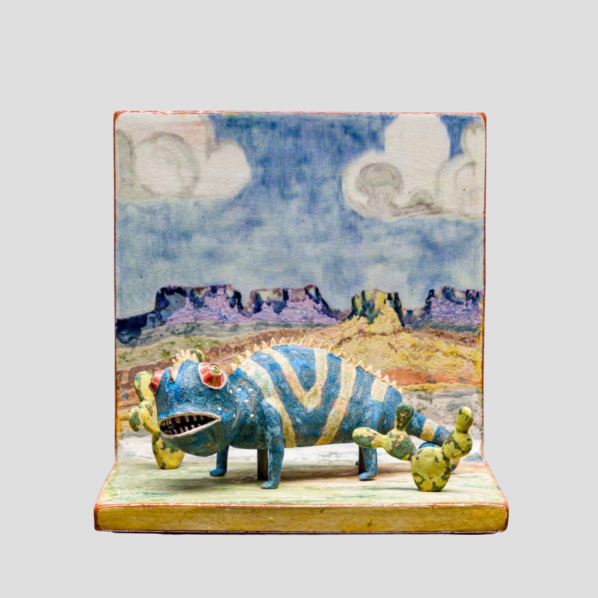 Wesley Anderegg, Blue Chameleon, 2020