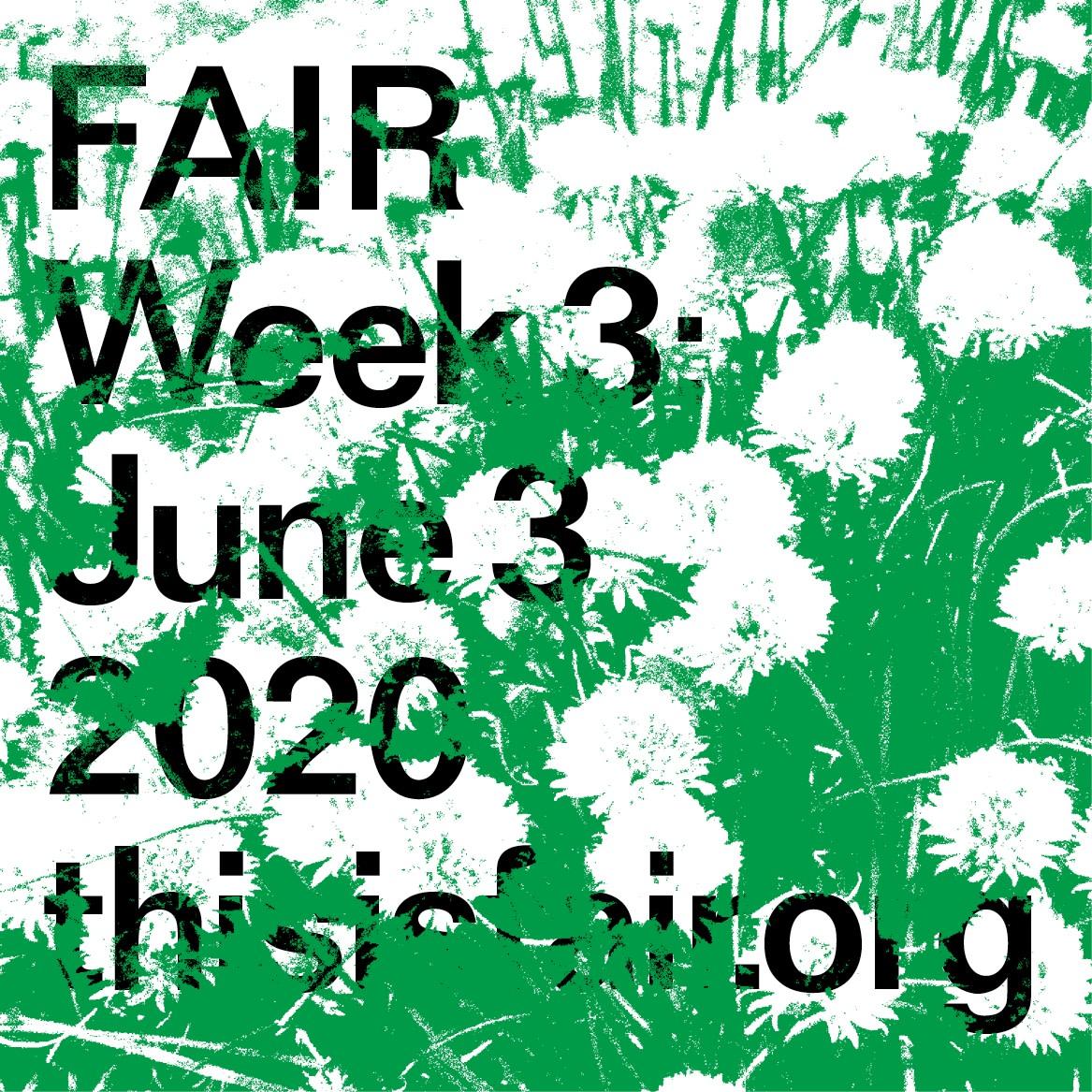 FAIR Week 3: June 3, 2020
