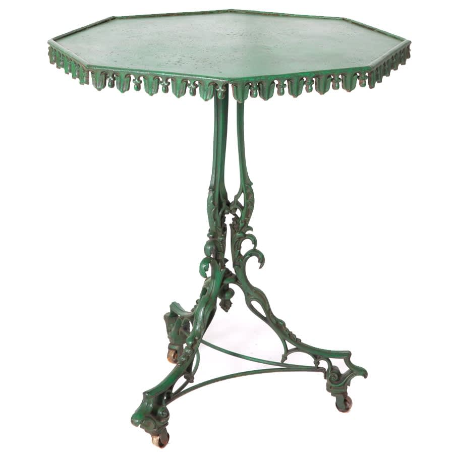 SOLD/Cast Iron Side Table