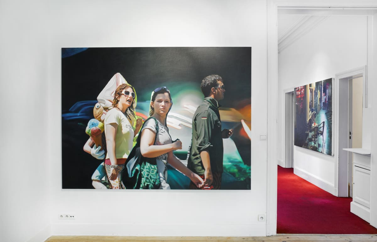 """""""Kate Waters - After you"""" Installation view at Aeroplastics, 2014"""