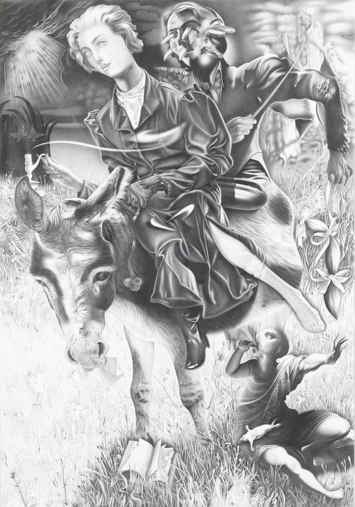 Dennis Scholl, 'Dunkelheit von Charakter und Schicksal (Darkness of character and destiny)'. 2011. Pencil on paper, 214 x 150 cm.