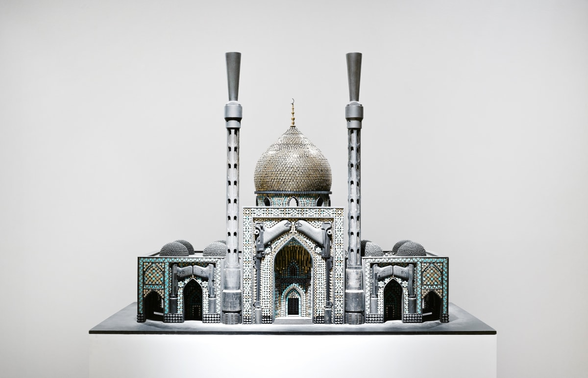 Al Farrow, 'Bombed Mosque', 2010 Guns, gun parts, bullets, steel, 103.51 cm x 142.37 x 88.34 cm