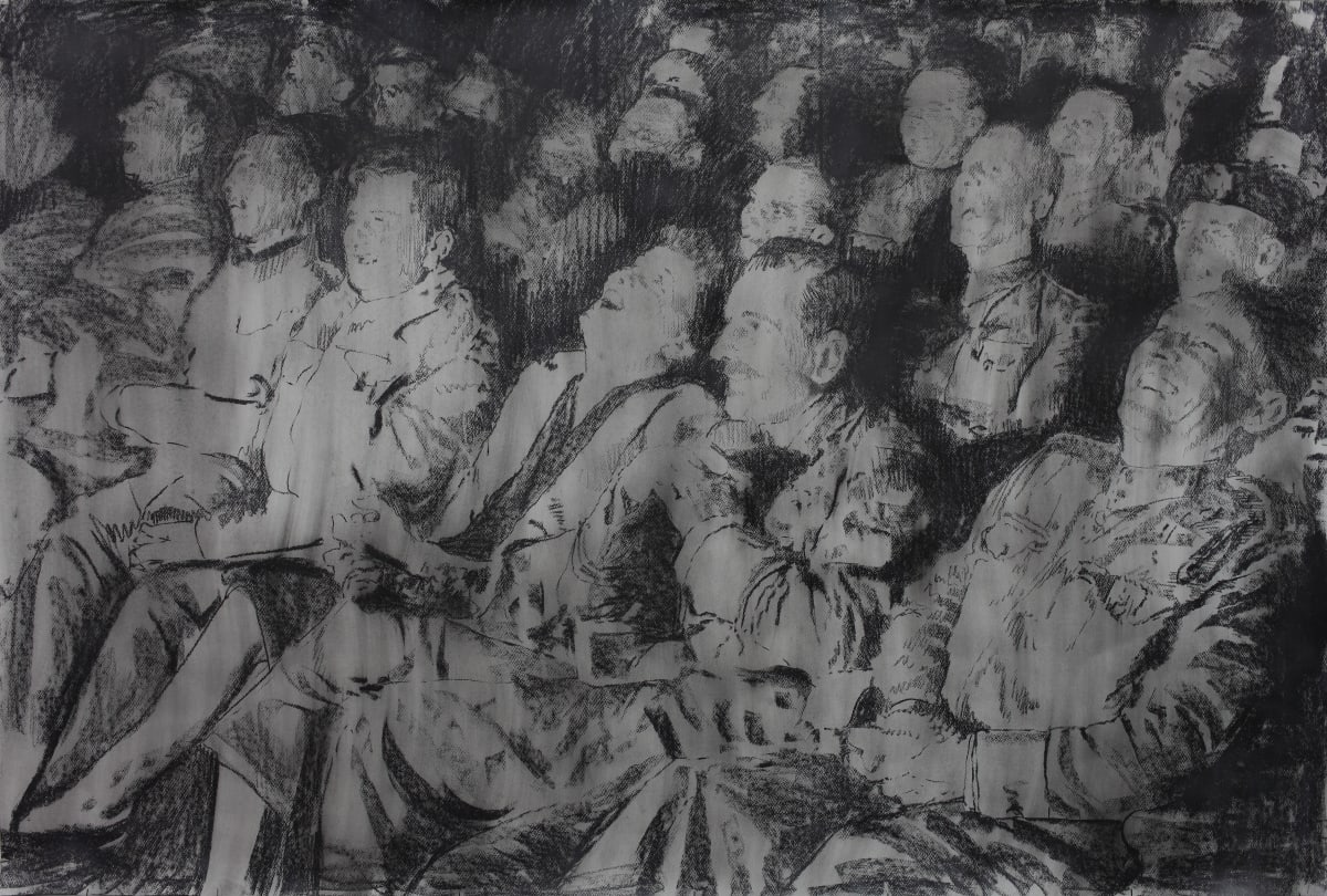 Mircea Suciu, 'It all ends with a laugh', 2012 Charcoal on paper, 101 x 150 cm.