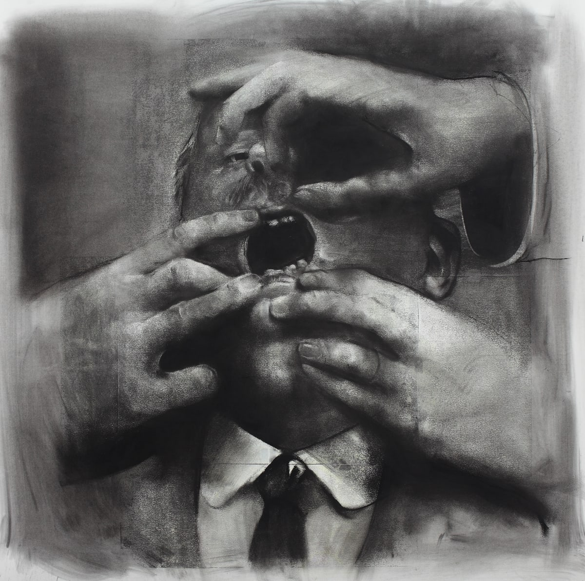 Mircea Suciu, 'Honest Truth', 2012 Charcoal and ink on paper, 71 x 77 cm.
