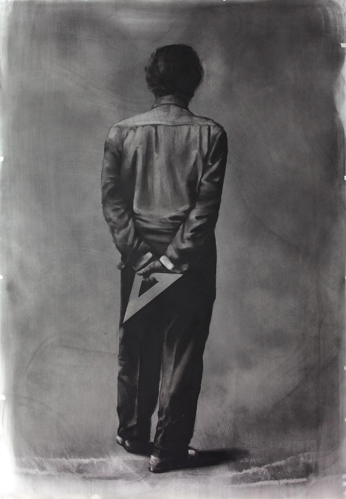 Mircea Suciu, 'Contemplating chaos' 2011 Charcoal on paper, 271 x 150 cm.