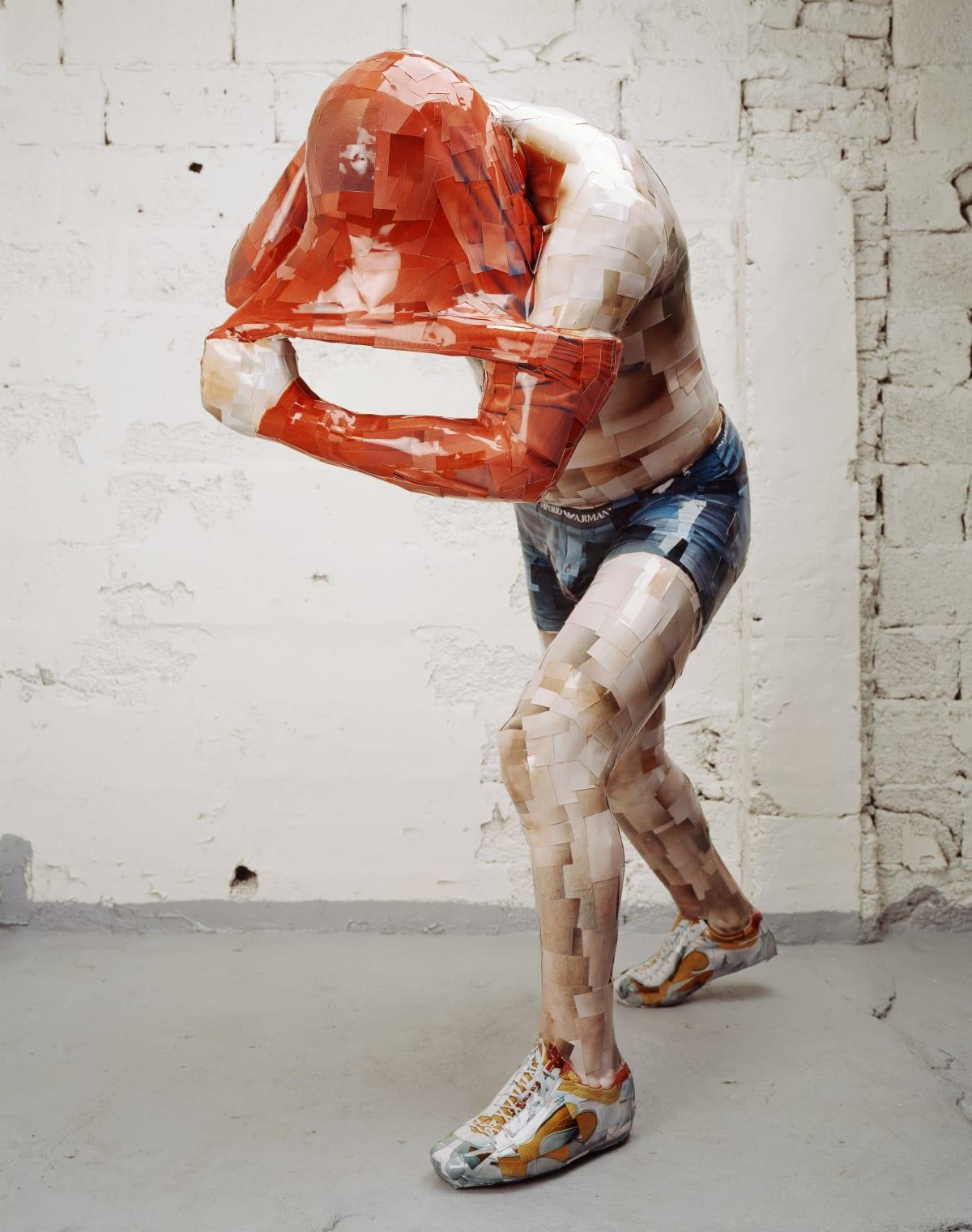 Red Sun, 2005-2006, C-print, mixed media, 158 x 73 x 155 cm