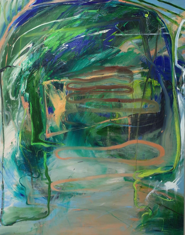 Summer, Rainshower, 2018, Oil on linen, 162.2 x 130.3 cm