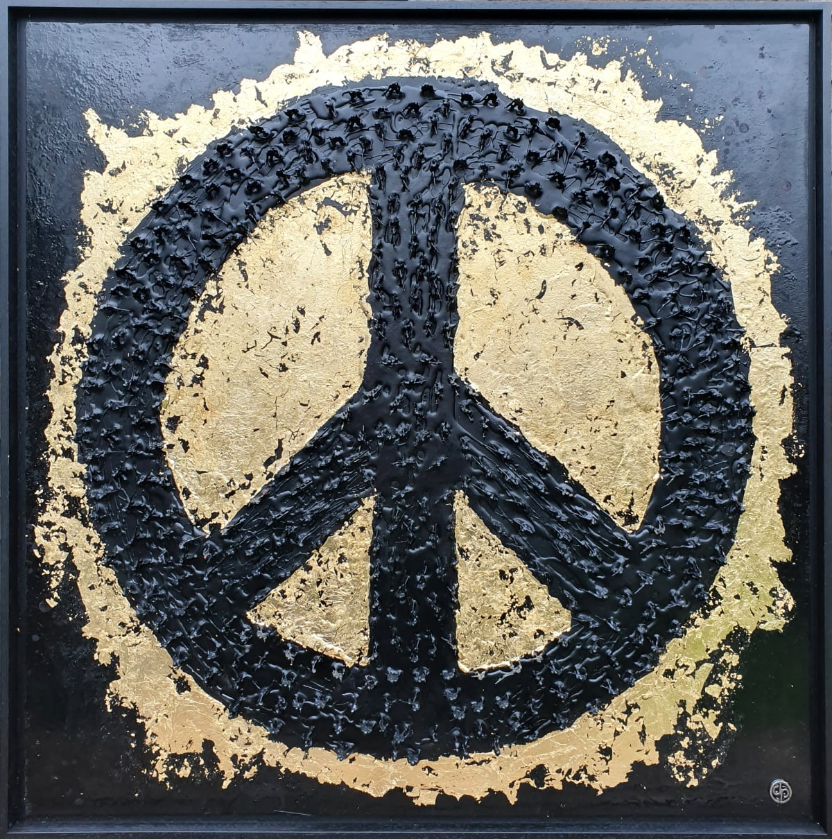 "Dan Pearce Title: Give Peace a Chance Size: 35"" x 35"" Price: £2,000 (Framed)"