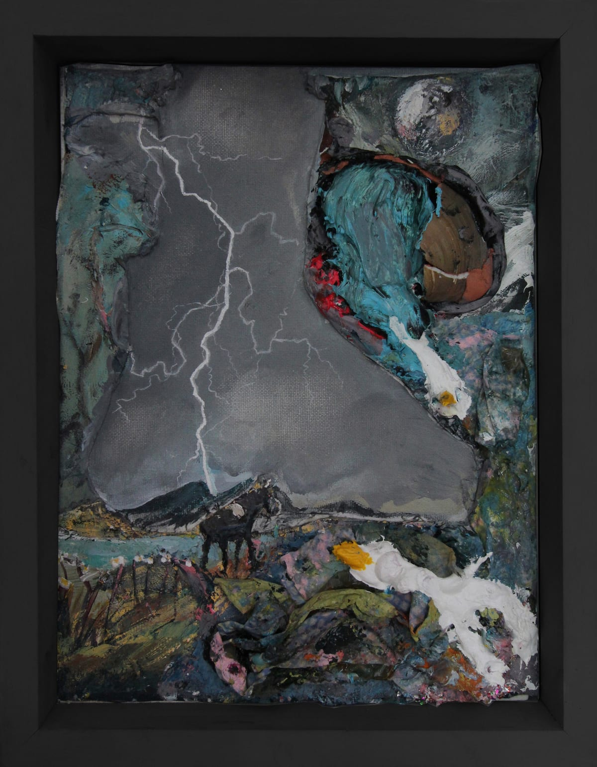 'Devil's Island', Ruth Smith on a painting by Paul Newman featured in the exhibition 'Reflections'.