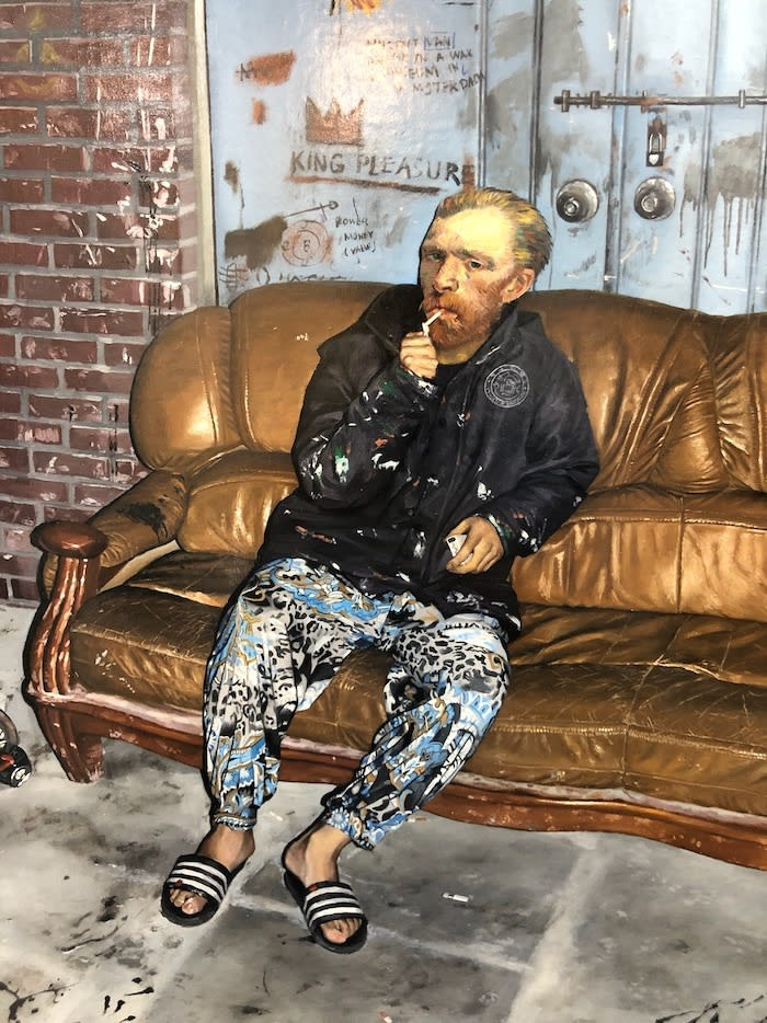 Kwon Neung, Van Gogh, 2019. Photo taken at Art Basel Hong Kong, 2019