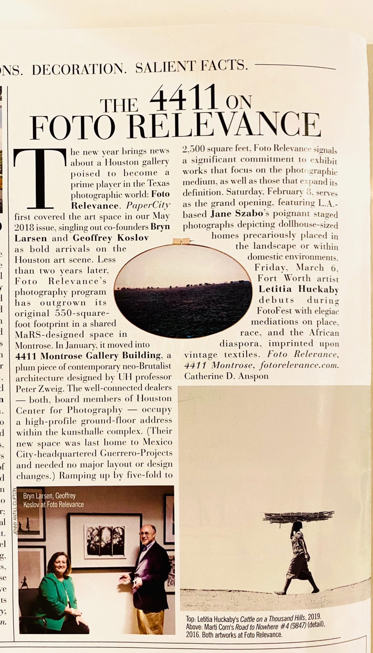 Foto Relevance featured in PaperCity February Issue