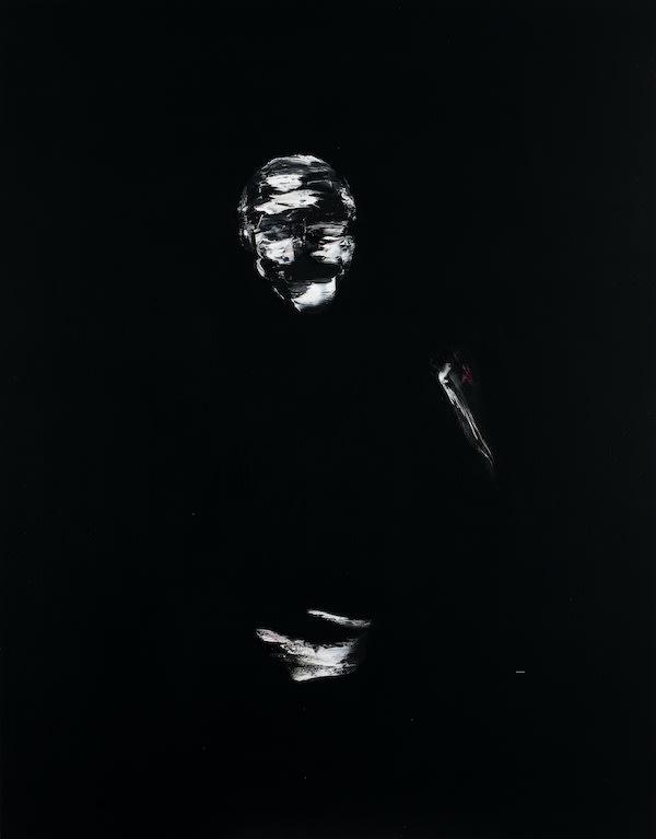 Lorenzo Puglisi Ritratto170218 (Portrait170218), 2018 Oil on board. 100 x 78 x 7 cm 39.4 x 30.7 x 2.75 in
