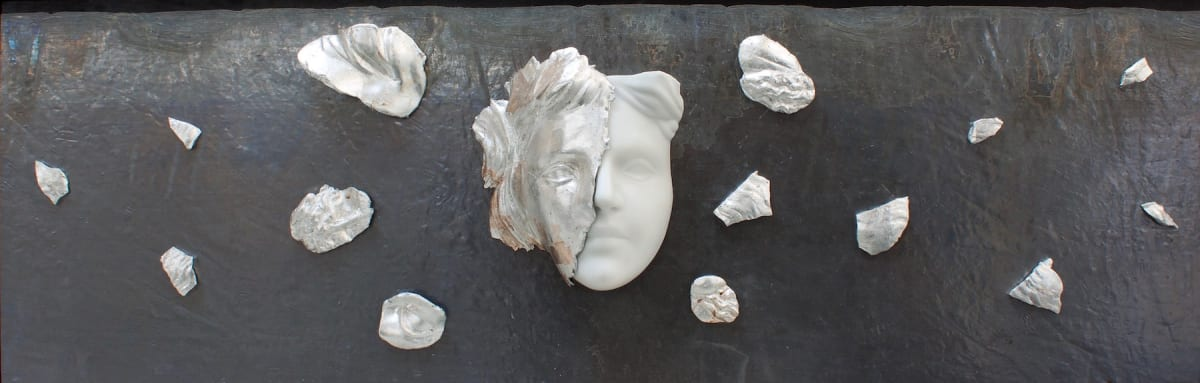 Michelangelo Galliani EXPLOSION, 2019 Carrara marble, silver and lead 113 x 37 x 12 cm (44.5 x 14.5 x 4.7 inch)