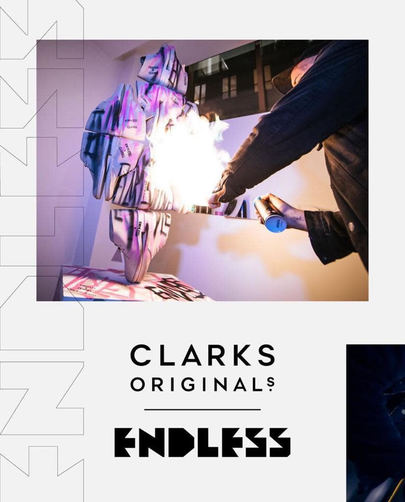 Endless collaborates with Clarks Originals at Paris Fashion Week