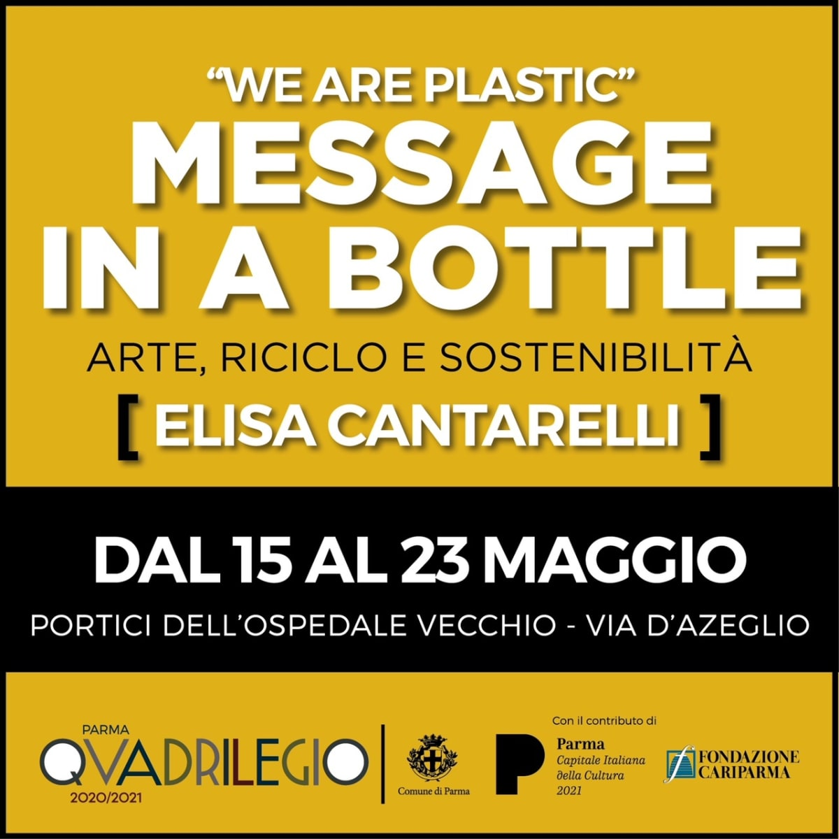 'We are Plastic - Message in a Bottle' by Elisa Cantarelli