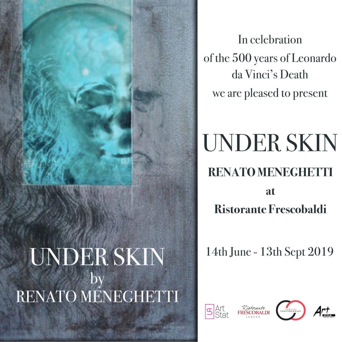 Under Skin exhibition by Renato Meneghetti at Ristorante Frescobaldi London