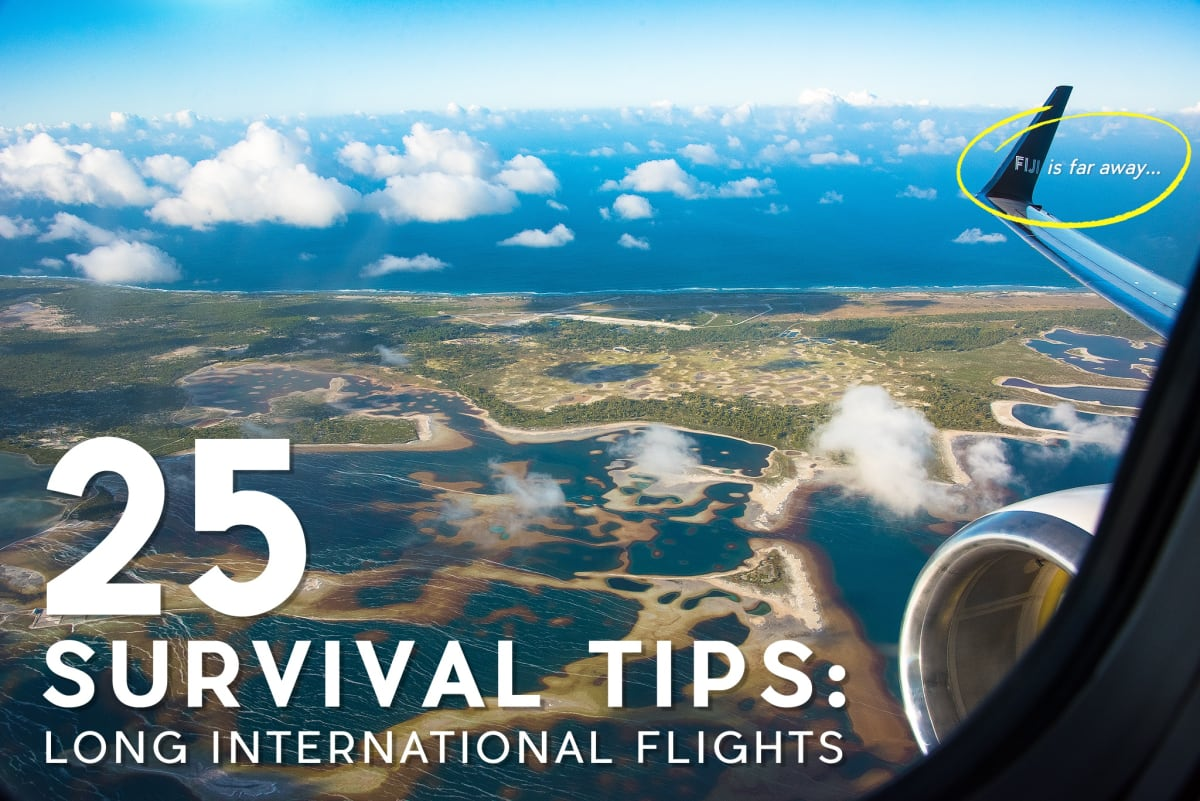 25 Travel Tips for Surviving Long International Flights