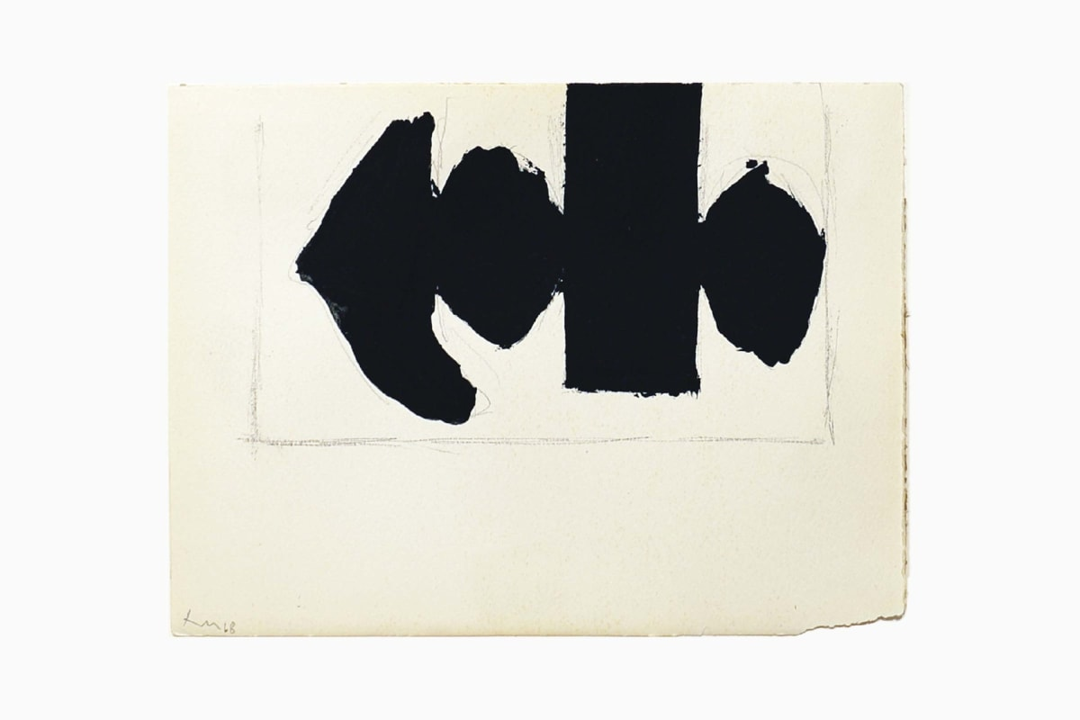 Elegy to the Spanish Republic No.110C, 1968, Acrylic and graphite on paper, 15.2 x 20.3 cm