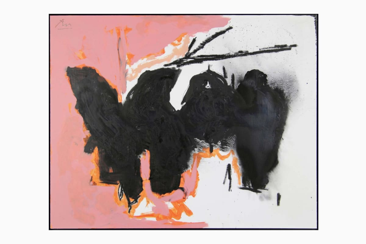 Elegy to the Spanish Republic No.163, 1979-1982, Acrylic and Conte crayon on board, 59.1 x 74.3 cm