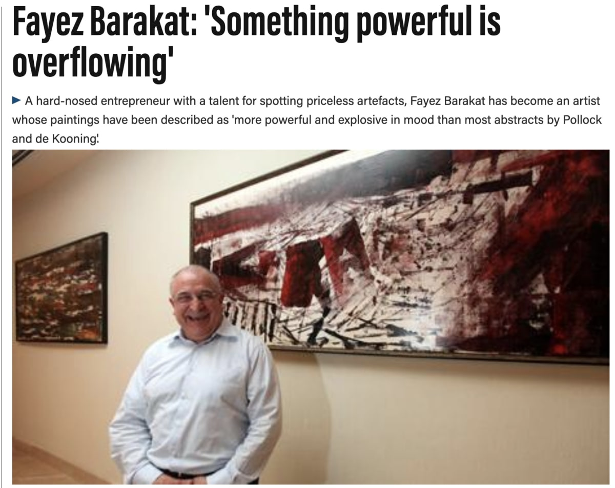 Fayez Barakat: 'Something powerful is overflowing'