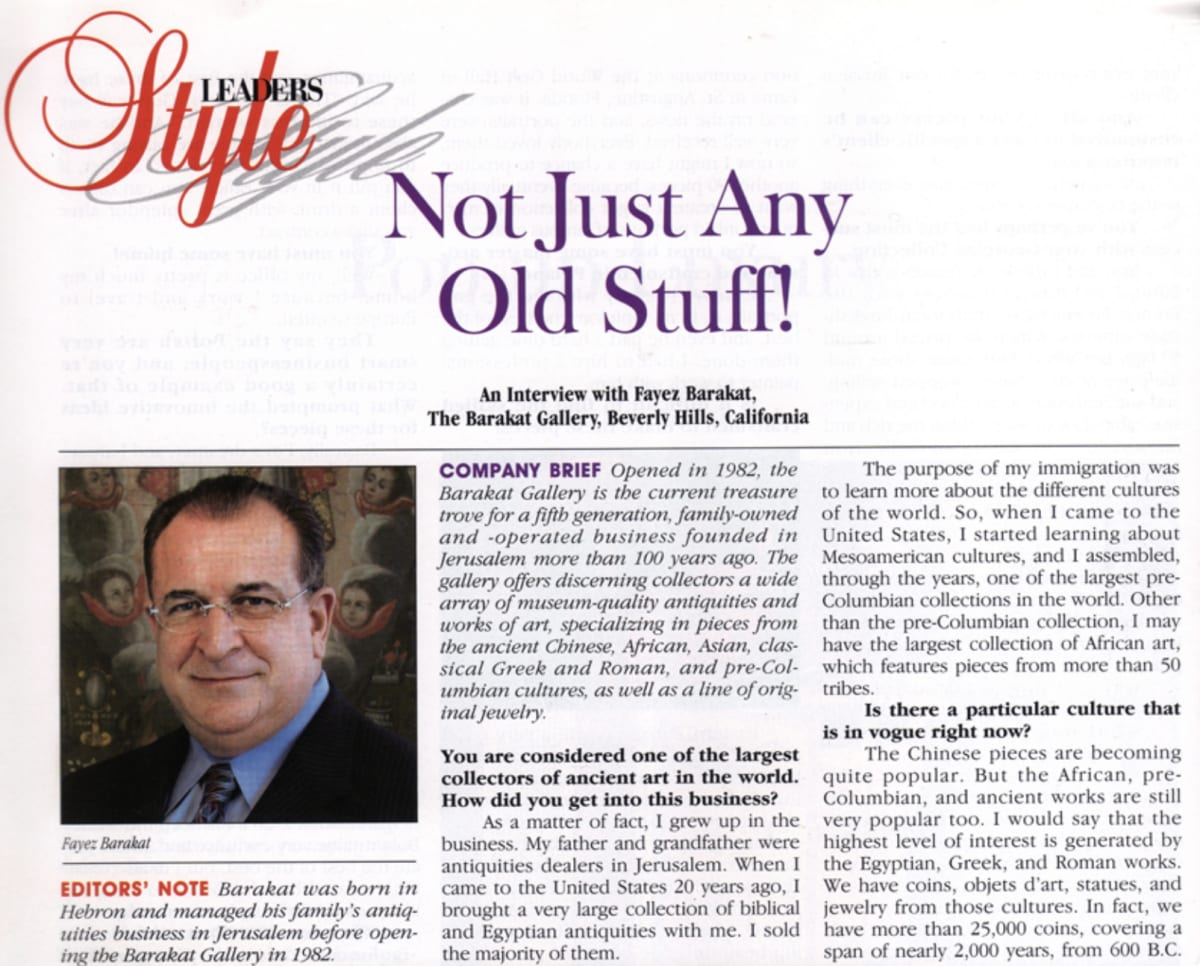 Not Just Any Old Stuff! - An Interview With Fayez Barakat