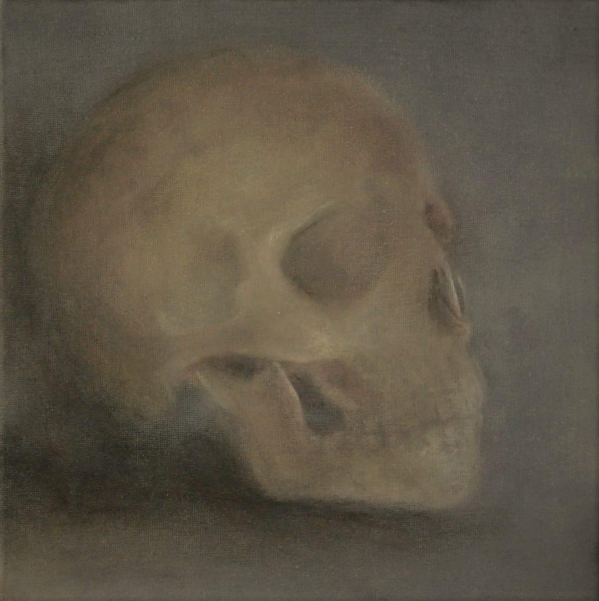 Michael Tietz Geldenhuys Skull Ii Oil On Canvas 20X20Cm