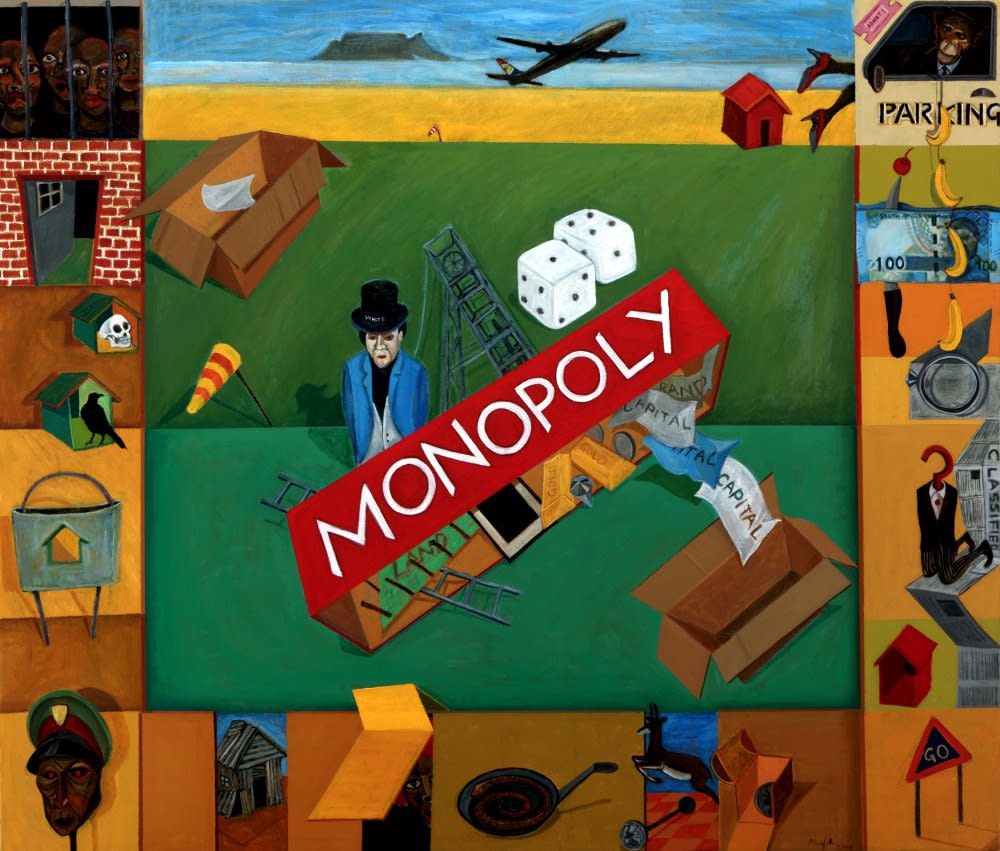 Monopoly | 2018 | acrylic on canvas | 120 x 140 cm
