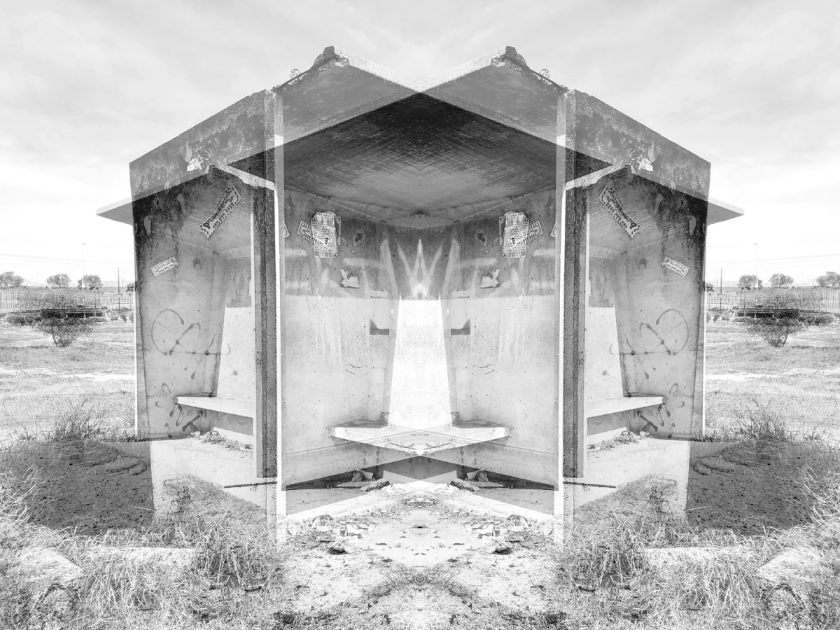 Alastair Whitton, Bus Shelter, Bonteheuwel, 2019, silver print