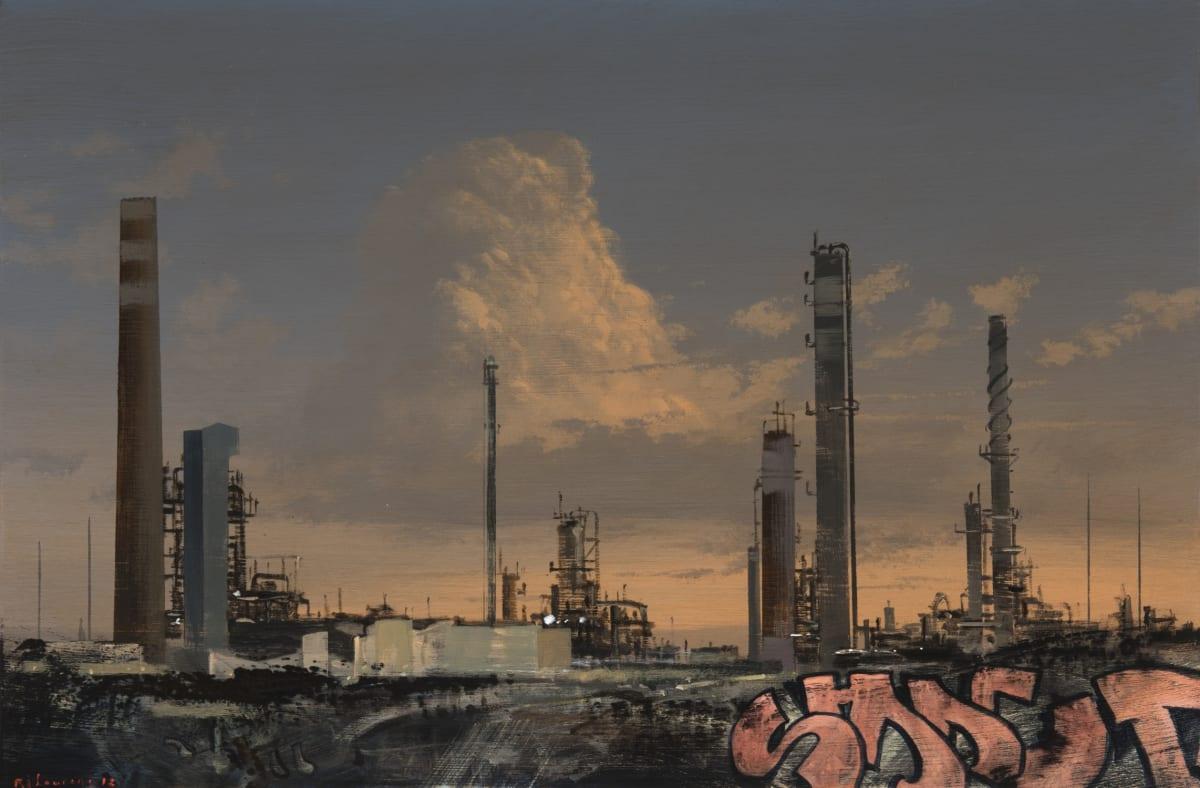 MJ Lourens, Ode to chemistry , 2018, acrylic on board, 40 × 60 cm