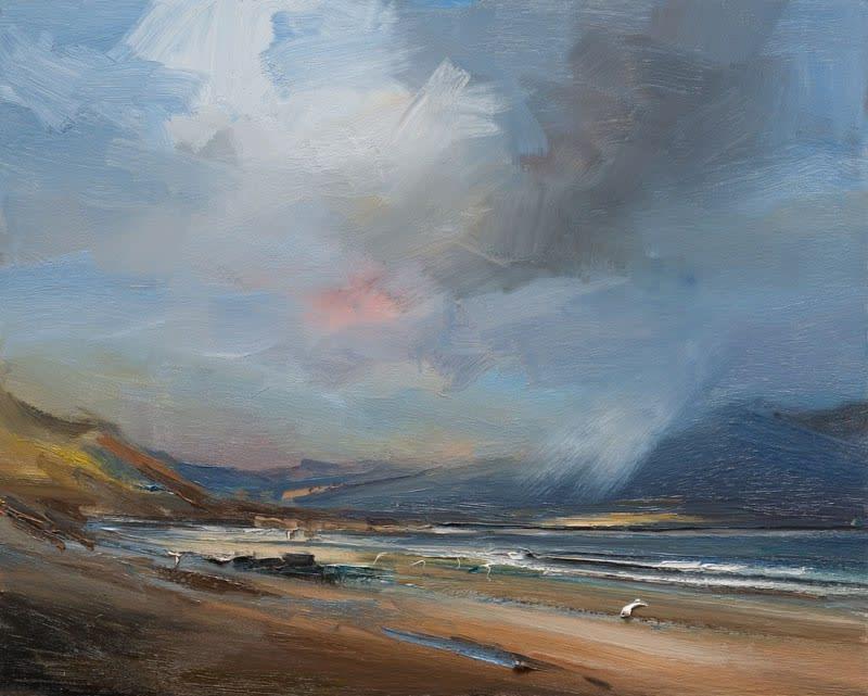 Sunshine and Showers, Kilshannig Beach, Co. Kerry oil on board 61 x 81 cm