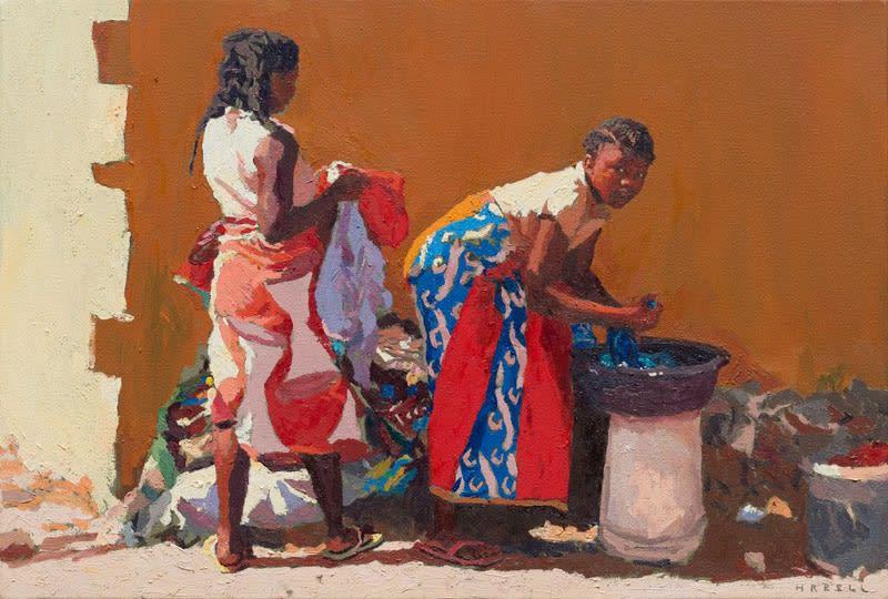 Duty full oil on canvas 36 x 53 cm