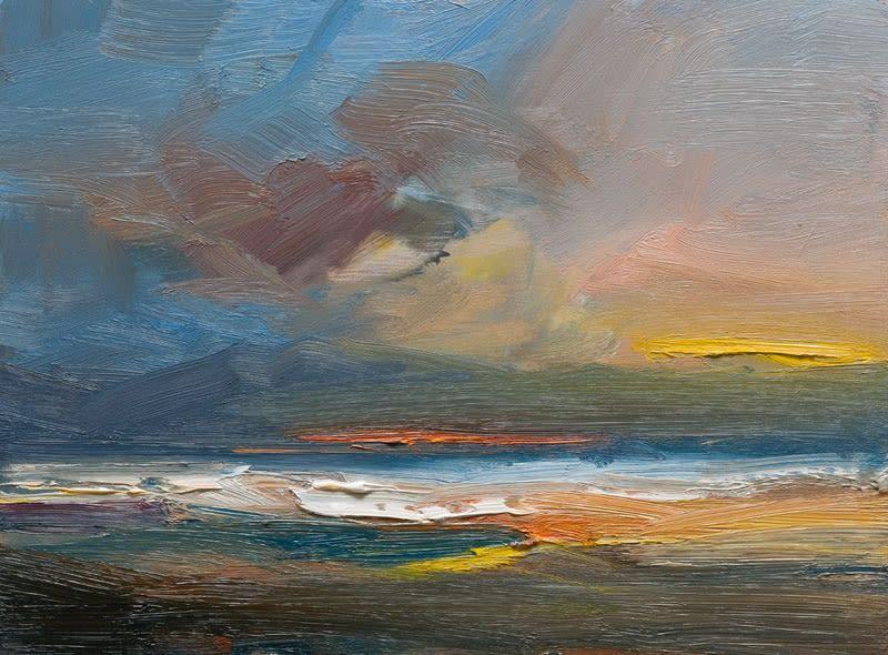 Evening, Kilshannig Beach, Co. Kerry I oil on board 30 x 40 cm
