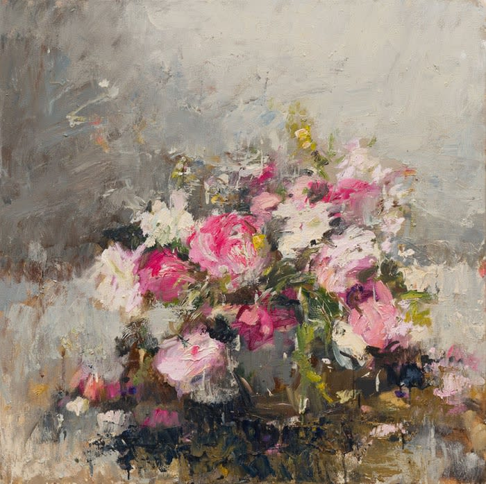Garden Roses (June) I oil on canvas 100 x 100 cm