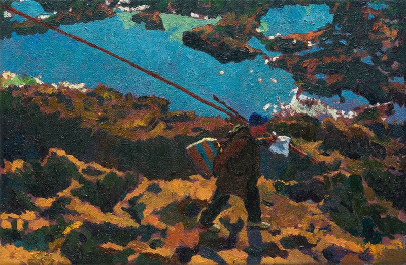A certain path oil on canvas 20 x 30 cm