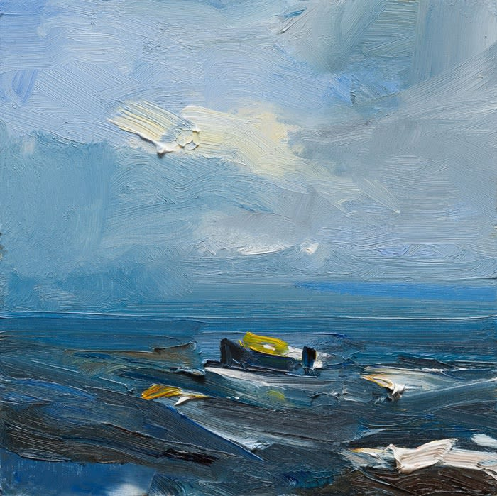 Rough Sea, Dunquin, Co. Kerry oil on board 30 x 30 cm