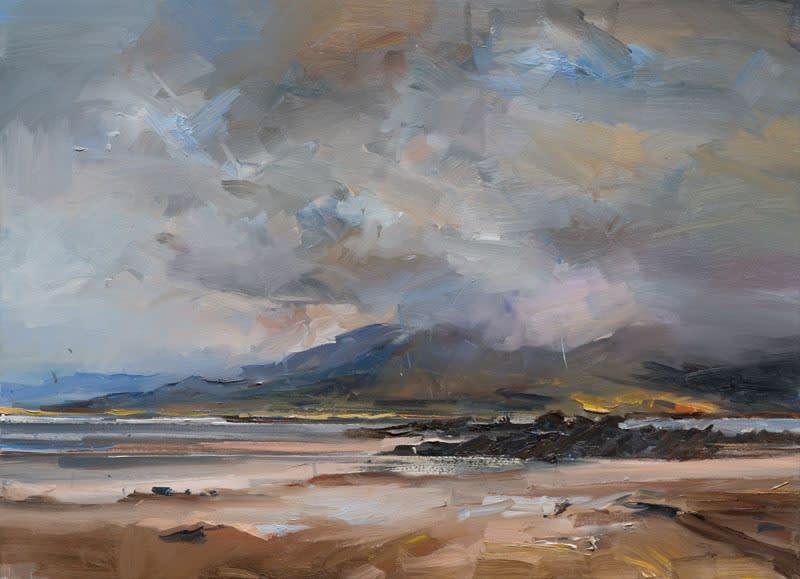 Light and Rain, Cappagh Beach, Co. Kerry oil on canvas 80 x 110 cm