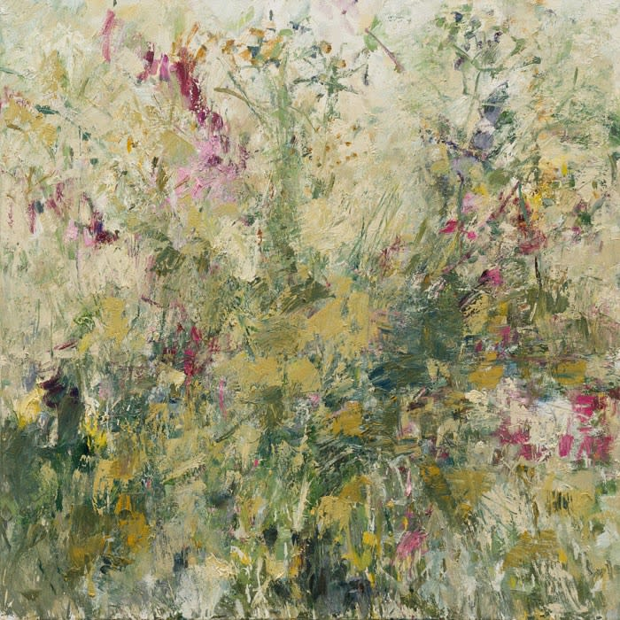 Summer Hedgerow I oil on canvas 120 x 120 cm