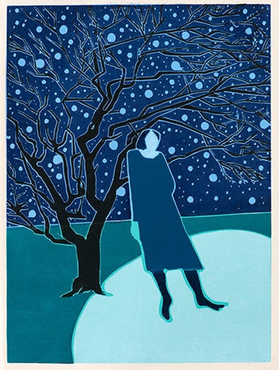 Tom Hammick She is Known to Every Star Edition variable reduction woodcut 41 x 30 cm edition of 20 Framed