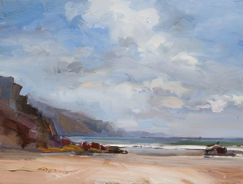 Ryan's Beach, Dunmore Head, Co. Kerry oil on board 61 x 81 cm