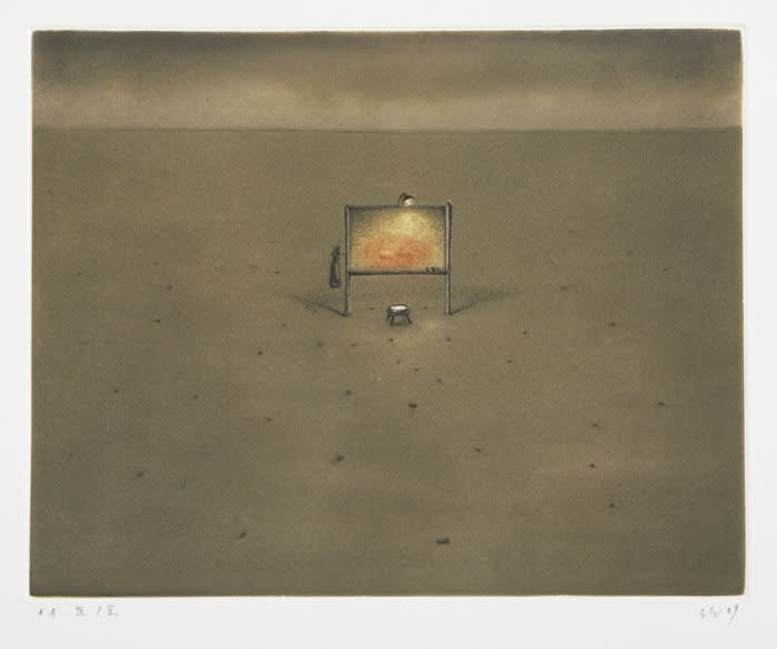 Mitsuo Shiraishi Untitled etching and aquatint 45 x 56 cm edition of 10