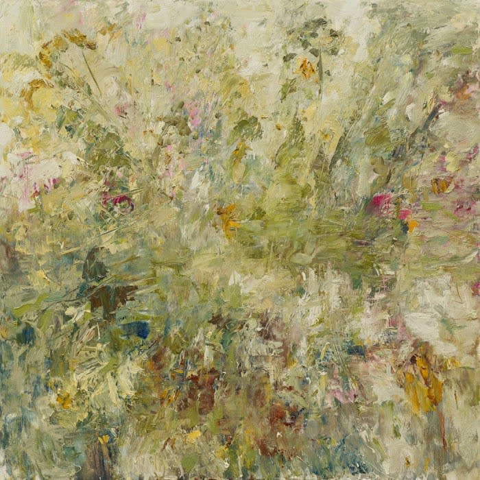 Summer Hedgerow II oil on canvas 120 x 120 cm