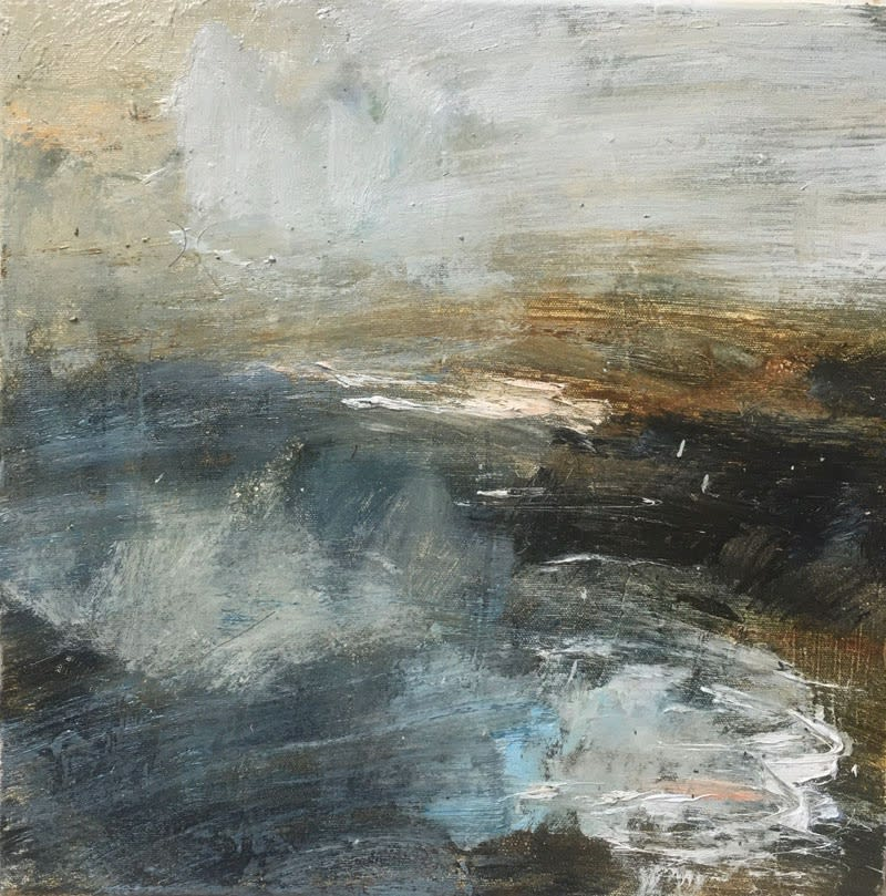 Stormy Sea II oil on canvas 40 x 40cm
