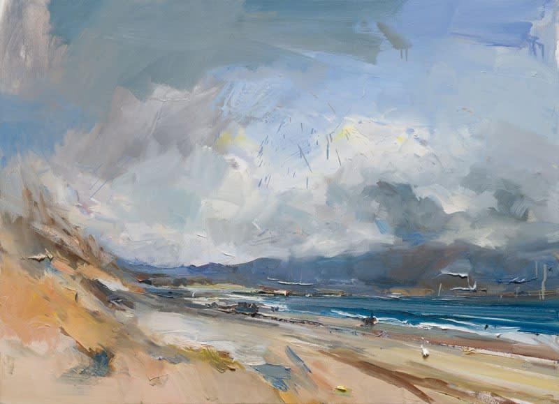 Spring Rain, Kilshannig Beach, Co. Kerry oil on canvas 80 x 110 cm