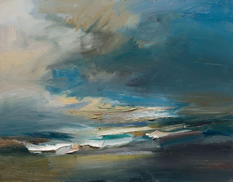 The Atlantic Ocean, West of Ireland oil on board 56 x 71 cm
