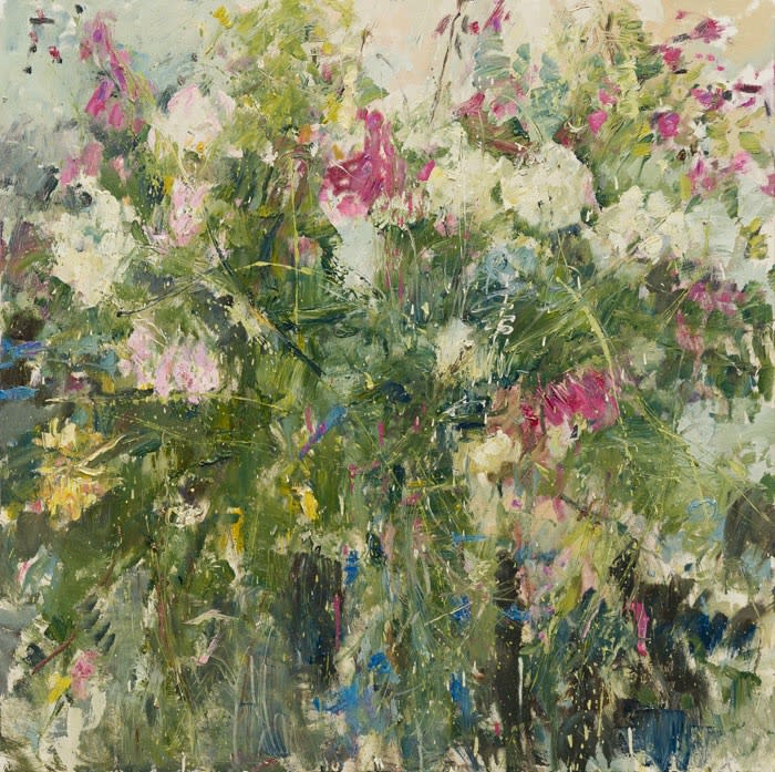 Summer Hedgerow III oil on canvas 120 x 120 cm