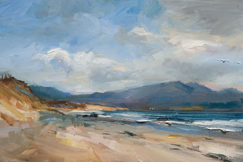 The View towards Cloghane, C. Kerry oil on board 61 x 92 cm