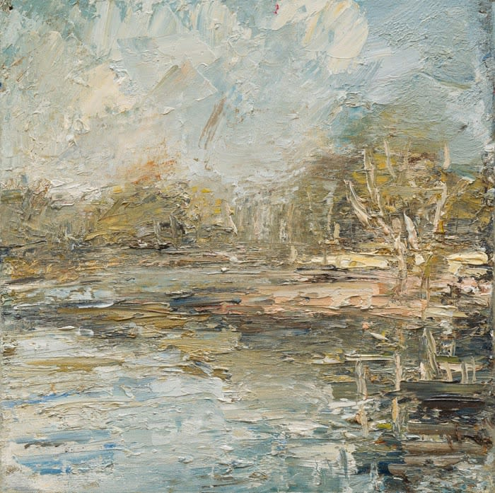 Creek Morning Reflections I oil on canvas 51 x 51 cm
